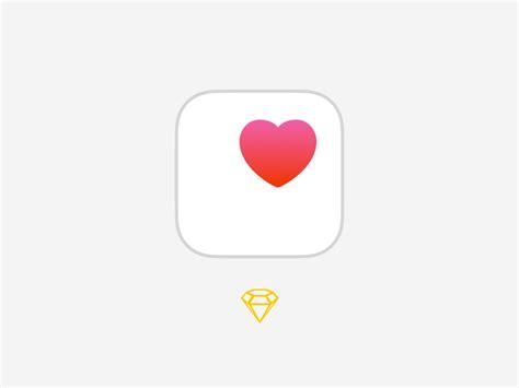 apple health apple health kit icon sketch freebie download free