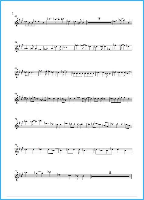 theme music lucky man get lucky sheet music saxophone