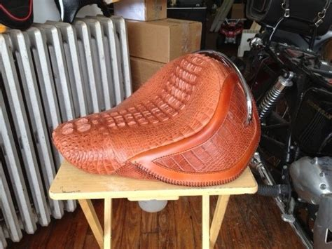 Motorcycle Seat Upholstery Cost alligator hides prices custom made alligator motorcycle