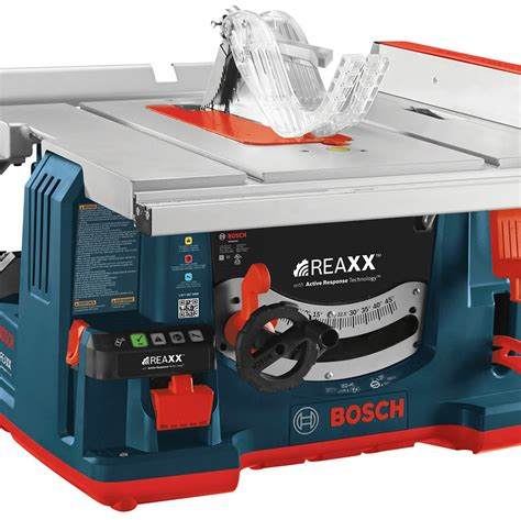 bosch table saw safety stop new saw technology aids woodworking job safety