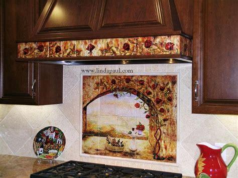 kitchen tile murals tile art backsplashes wine and roses tile mural kitchen backsplash custom tile art