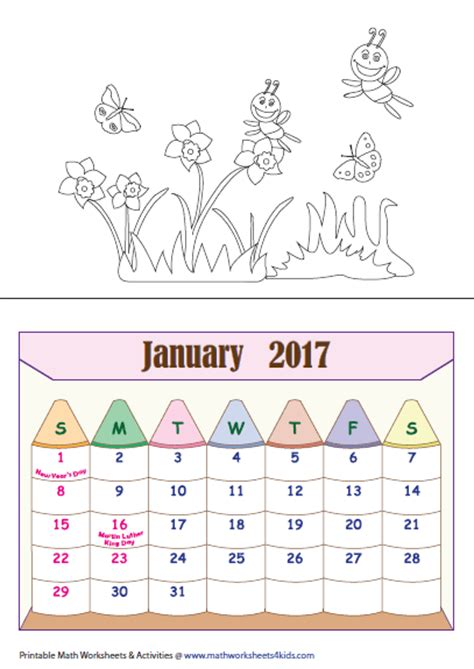 Calendar For Calendar Worksheets