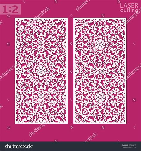 Laser Cut Ornamental Panel Pattern May Stock Vector 589494497 Shutterstock Laser Cut L Template