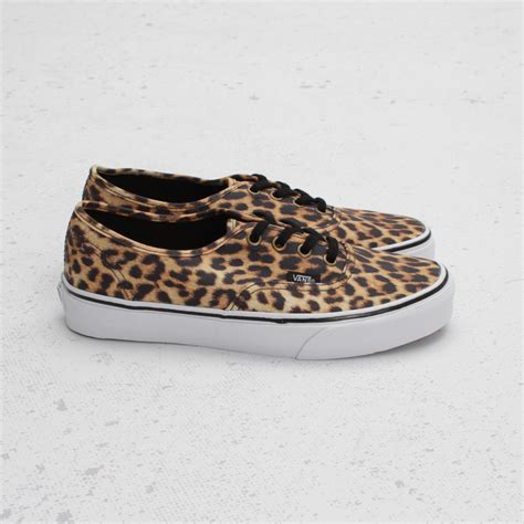 Sepatu Vans Leopard Brown vans authentic quot leopard quot black brown sole collector
