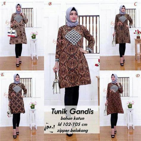 Baju Atasan Wanita Batik Tunic 5 jual baju batik dress wanita atasan tunik cewe tunic gandhis baju batik modern di lapak