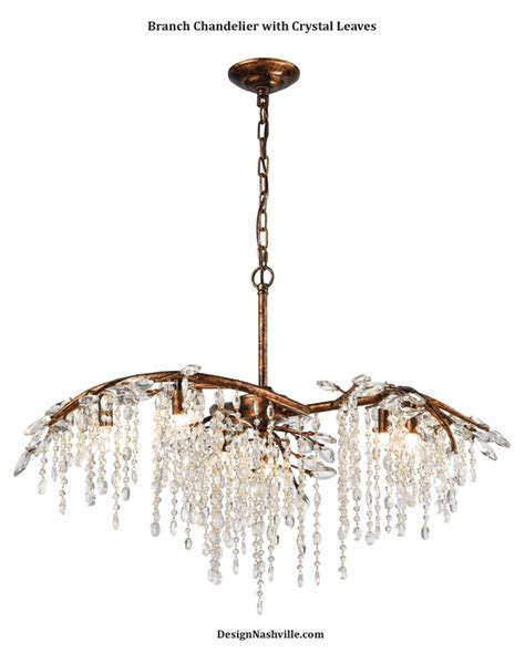branch chandelier branch chandelier with leaves