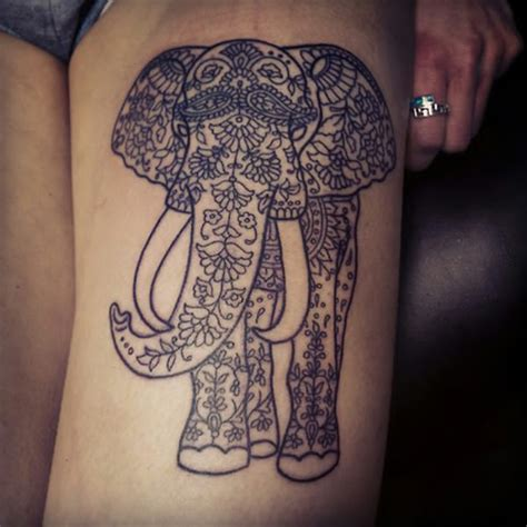 16 beautiful tribal elephant tattoo only tribal