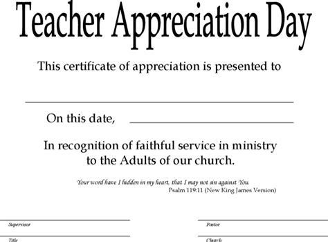 free certificate templates for teachers sunday school certificate templates free