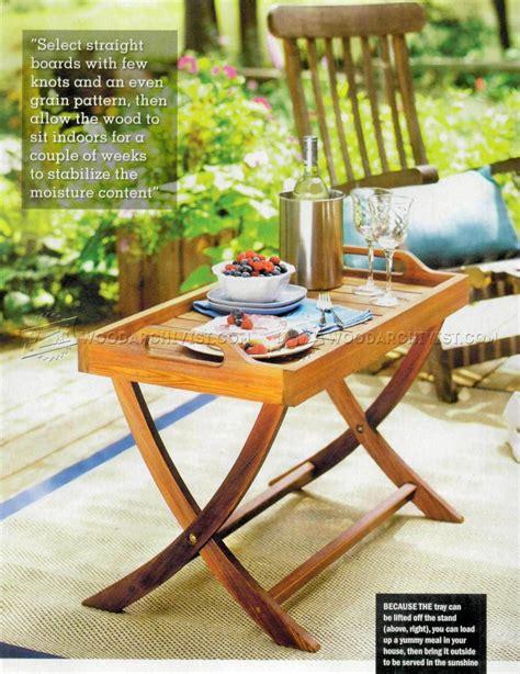 folding serving tray table plans woodarchivist