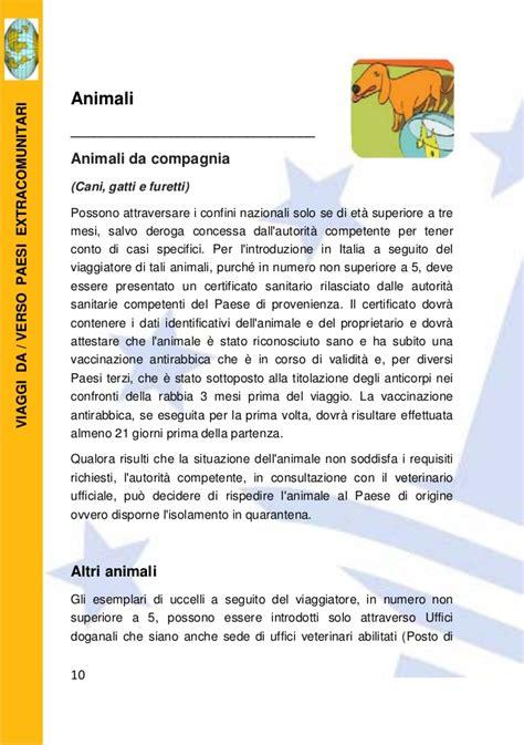 ufficio doganale italia carta doganale viaggiatore 2016 agenzia delle
