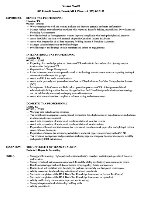 tax professional job description safe work method