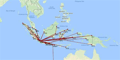 batik air route map batik air already 3 in indonesia market after 2013 launch