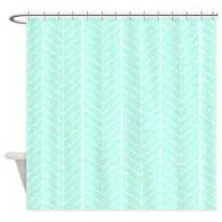 mint green herringbone shower curtain by inspirationzstore