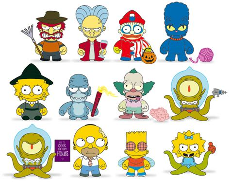 the simpsons treehouse of horror by kidrobot 171 atom plastic - Simpsons Treehouse Of Horror Figures