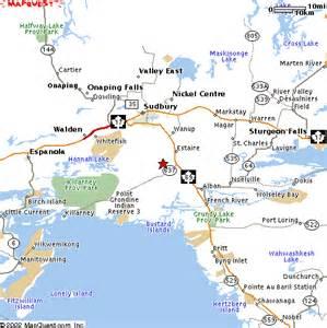 location of sudbury and burwash area