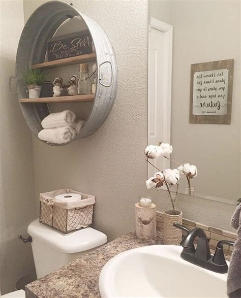 bathroom home decor shelf idea for rustic home project bathroom