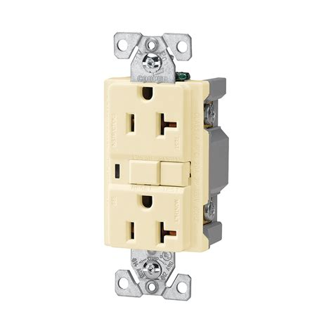 shop cooper wiring devices 20 almond decorator gfci