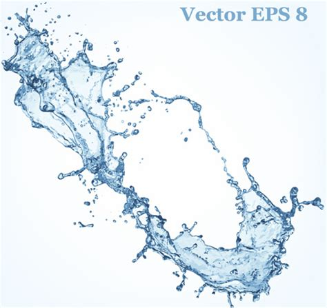 water effect design vector transparent water splash effect vector background free