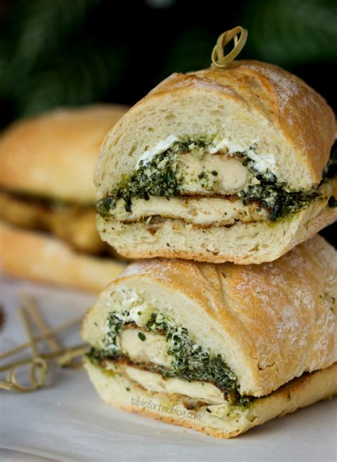 goat cheese pesto chicken sandwich table    julie wampler