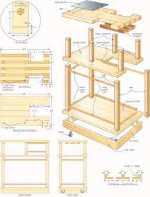 Folding Island Kitchen Cart rolling bar woodworking plans woodshop plans