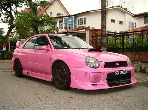 pink subaru pink subaru wrx in my dreams i need a car