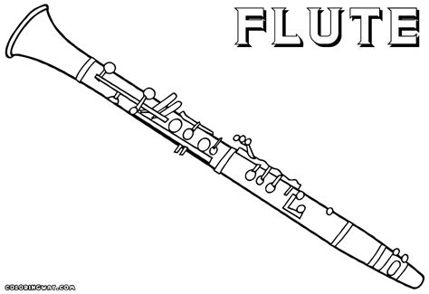 flute coloring pages