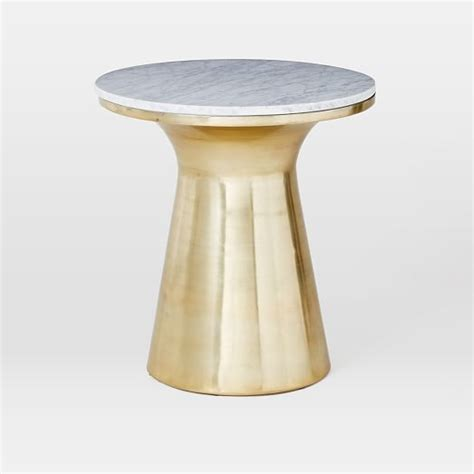 marble gold side table marble topped pedestal side table white marble antique