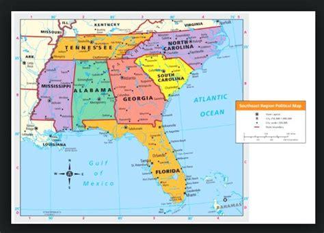 printable southeast us road map southeast us map airport map map southeast us states