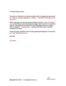 Resignation Letter For Education by Education Resignation Letter Sle Sle Church Letter Of Resignation Resignation Letter
