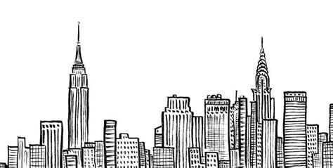 building doodle new york city skyline nyc empire state chrystler