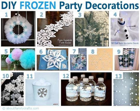 diy frozen birthday party ideas  family crafts frozen party  guess  frozen