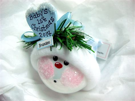 Child Handmade Ornament - baby boy 1st handmade ornament by