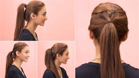 easy ponytail hairstyles quick easy girls hairstyles