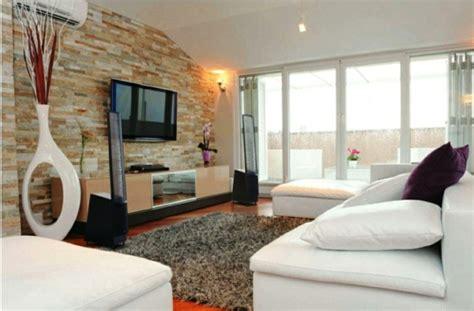 wohnzimmer gestaltungsideen natursteinwand im wohnzimmer die natur zu hause empfangen