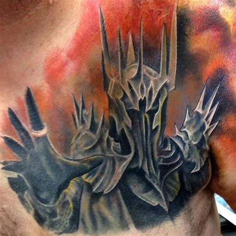 sauron tattoo done by chris gagnon