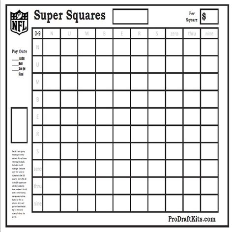 Office Football Pool Welcome Back Bowl Squares Pro Draft Kits