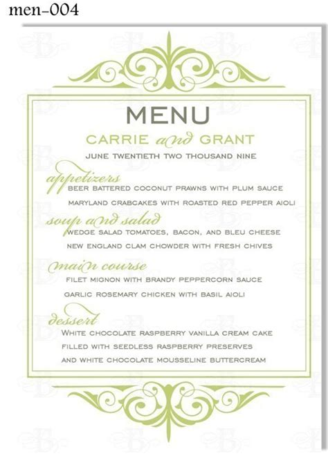 menu card template 6 best images of free printable dinner menu cards dinner