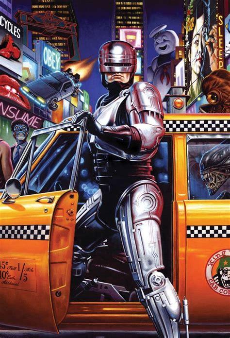 Oceanseven Robocop Vintage 9 i the 80s illustration retro vintage