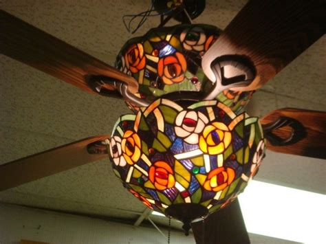 121 stained glass 5 blade ceiling fan quot lot 121