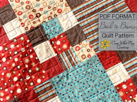 Quarter Quilt Patterns Baby Quilt by Nine Patch Baby Quilt Pattern Quarter Quilt Pattern Back