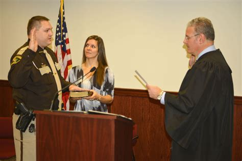 dodge county circuit court sheriff takes oath of office regional news wiscnews