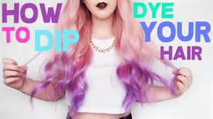 how to get colored hair dye out how to dip dye your hair by tashaleelyn