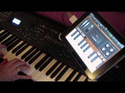 garage band ipad midi keyboard yamaha s90xs youtube