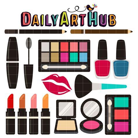 make up clip makeup clipart set pencil and in color makeup clipart set
