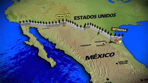 map de mexico y usa mapa 3 frontera usa m 201 xico