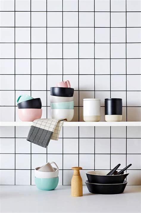 white tiles dark grout kitchen pinterest
