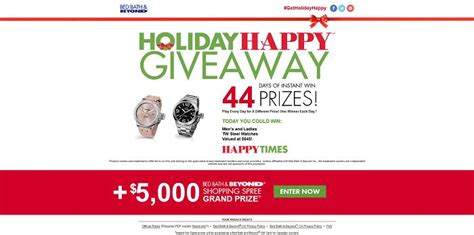 Bed Bath Beyond Holiday Sweepstakes - holidayhappygiveaway com bed bath beyond holiday happy giveaway