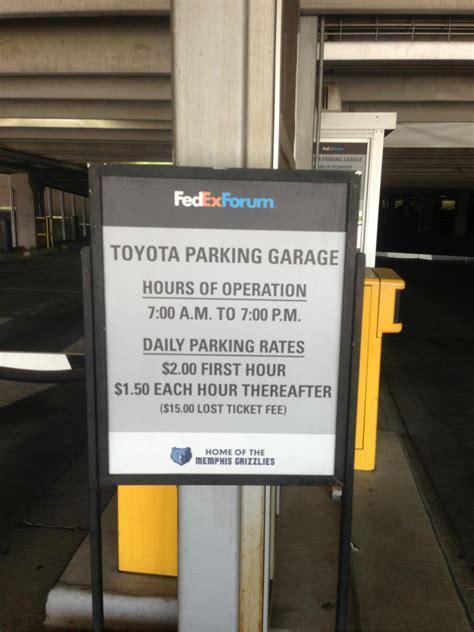toyota garage toyota parking garage parking in memphis parkme