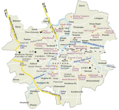 city map of pune pune map pune city map road map pune pune route map