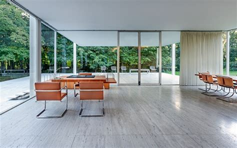 farnsworth house interior batman s taste in modernist furniture revealed in google maps tour of bruce wayne